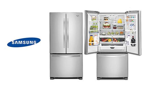 تنظيف باب الثلاجة